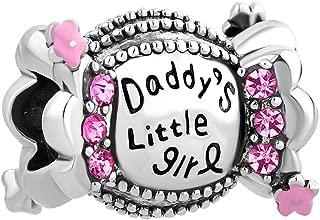 Daddy's Little Girl Charm Beads Fit European Charm Bracelets