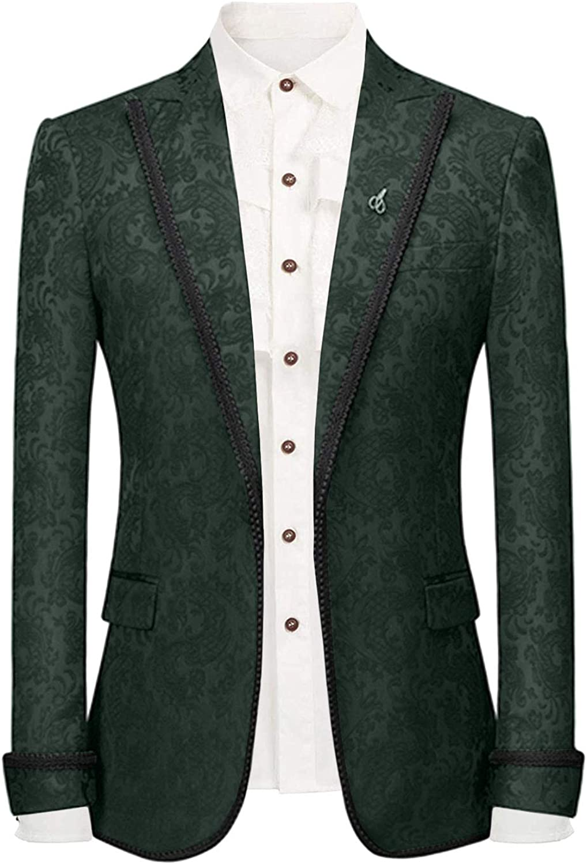 Wemaliyzd Men's Stylish Slim Fit Tuxedo Blazer for Wedding Cocktail Separate Suit