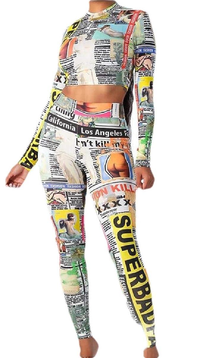 マングルクッションローマ人Womens Tracksuit Casual Print Long Sleeve Crop Tops Sweatpants 2 Piece Outfits
