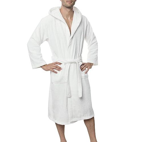 Men s Bathrobe (XS to XL) - Luxury 100% Cotton Bathrobes 463cc6cd4