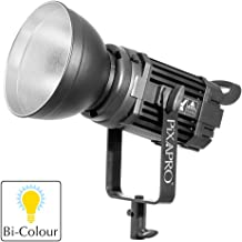 PIXAPRO LED100B MKIII Bright Bi-Colour LED Studio Light Video Single Unit Silent Compact Lighting Photo Dimmable Continuous Tungsten Daylight Balanced Metal Casing Cooling Fan 100W Interview Broadcast