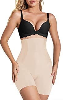 KeepCart Women's High Waist Shapewear with Women Shapewear Underwear Anti Rolling Strip Tummy Control Tucker Waist Slimmin...