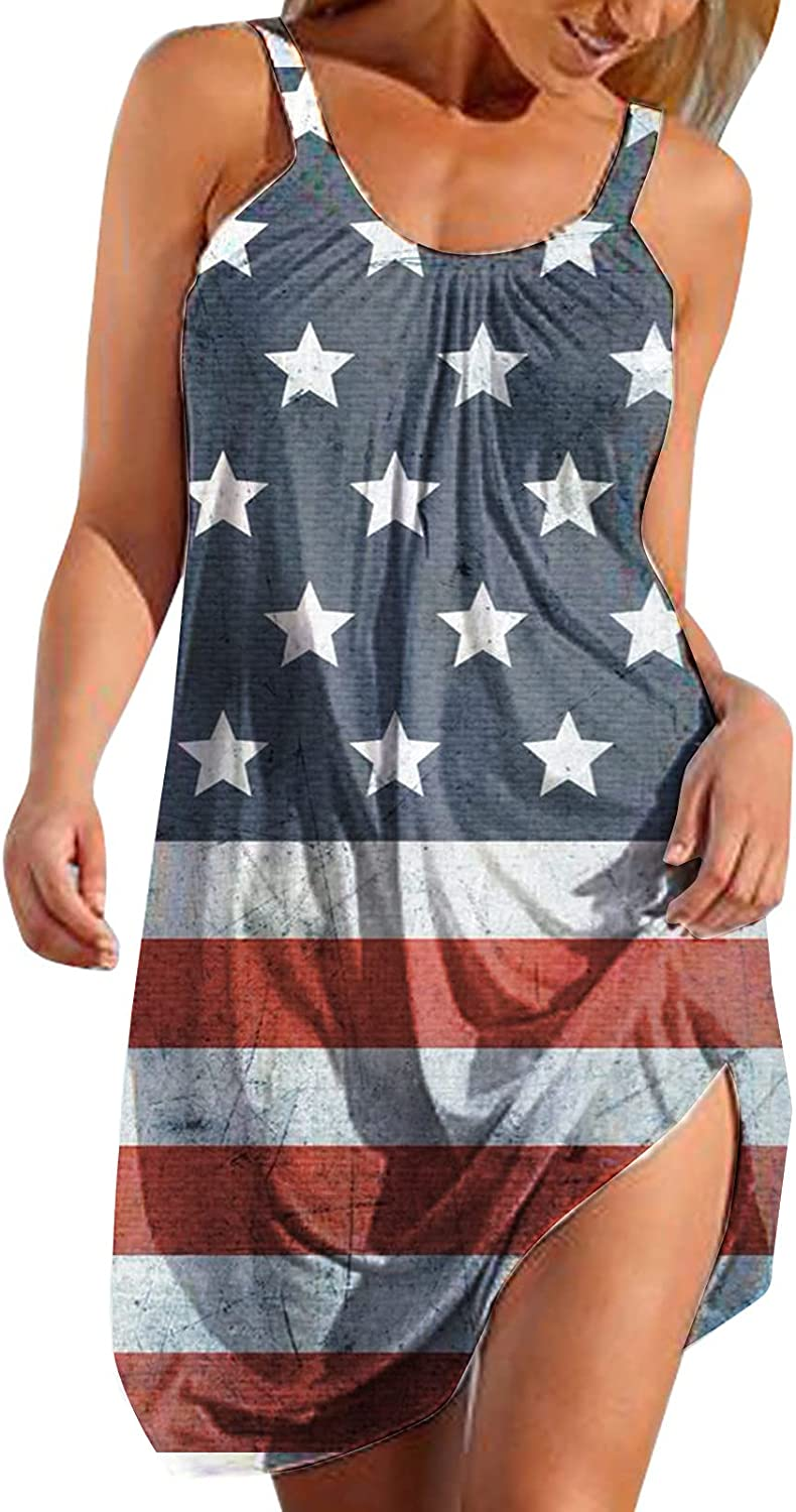 Eoailr Womens July Super popular New life specialty store 4th Dress Patriotic American Cute Flag
