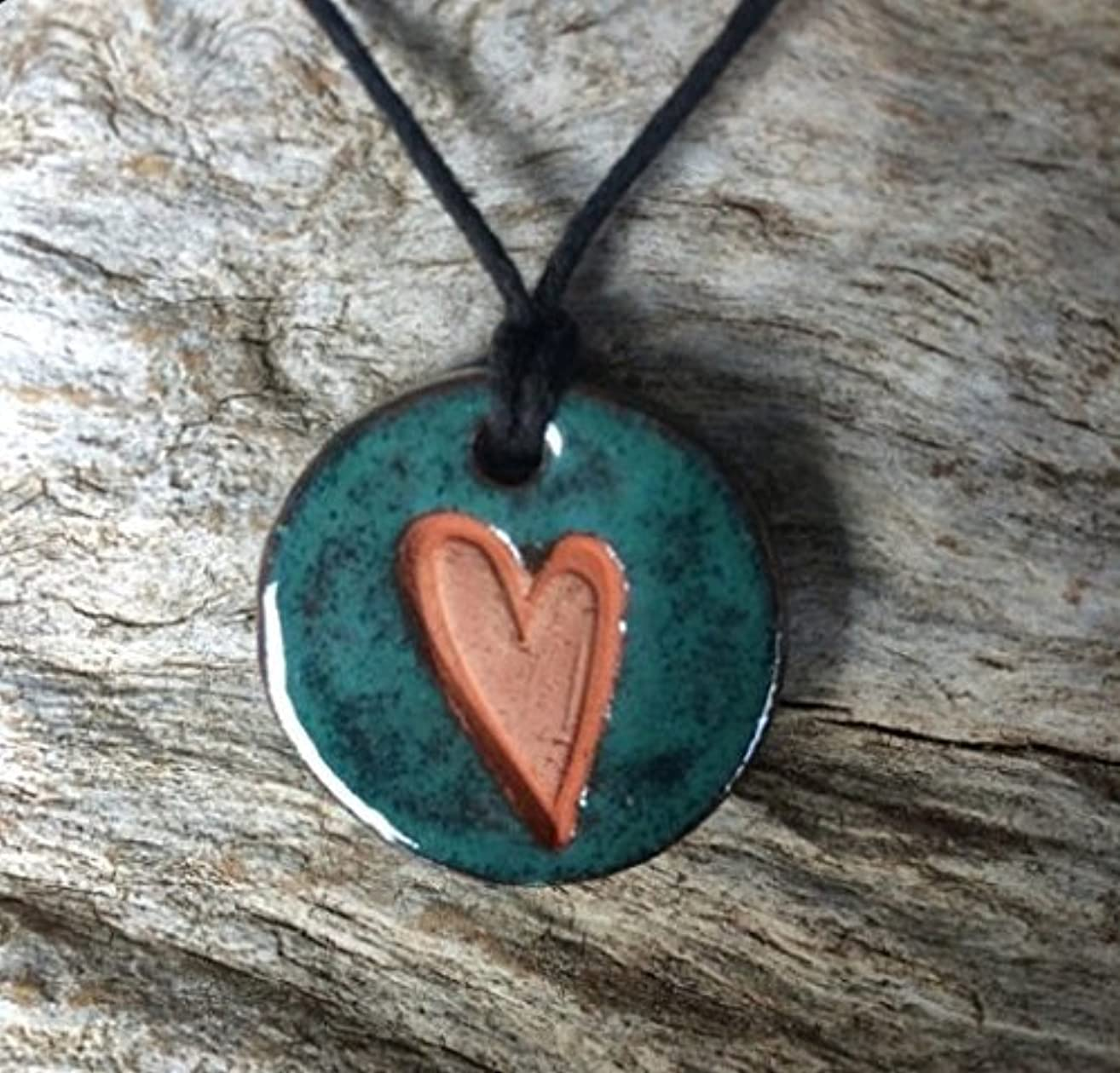 Essential Oil Diffuser Necklace | Heart Diffuser Necklace | Aromatherapy Jewelry | Clay Heart Diffuser | Essential Oil Accessory