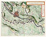 MAP Antique 1649 Van Loon Siege MAASTRICHT Old Large REPRO