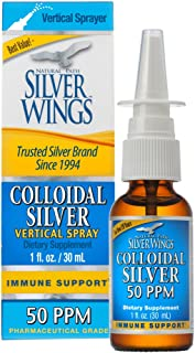 Natural Path Silver Wings Colloidal Silver Mineral Supplement, 50 Ppm, 1 Fluid Ounce