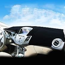 Ford Fiesta Dash Pad Carpet Anti-UV for Ford Fiesta 2009-2018 Dashboard Dash Protector Dash(Configuration: Heads up Display)