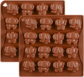2 Pack Elephant Chocolate Candy Molds, Elephant Silicone Keto Fat Bombs Molds Mini Soap Crayon Melt Resin Mould Ice Cube Tray Baby Shower Party Favors Supplies