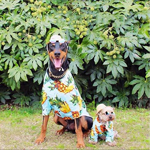 N / A Dog Clothes Hawaiian Flower Dog Shirt for Small Medium Large Dogs Puppy French Bulldog Pug Shirt Vest Pet Clothes Costume Small Medium and Large Dog Clothes Pet Dog Clothes Gift