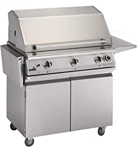 Pgs T-series Commercial 39-inch Freestanding Propane Gas Grill With Timer - S36tlp