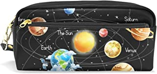 for Student Boy Girl Wildlife Pencil Case Pouch Purse Cosmetic Makeup Bag Zipper Solar System Universe Galaxy Pen Stationary Bag