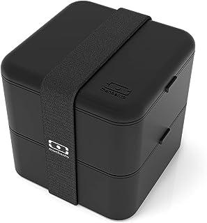 monbento - MB Square bento box - Lunch box hermétique 2 étages - Boîte repas idéale pour le travail/école - sans BPA - dur...