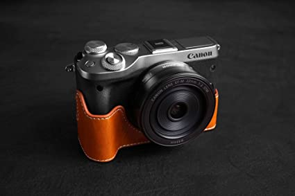 Tp Handgemachte Echte Echte Lederne Halbe Kamera
