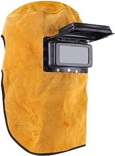 comprar comparacion Máscara de protección respirable a prueba de calor del casco de la soldadura con la lente, máscara de cuero durable buena ...