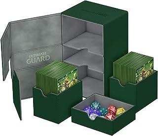 Ultimate Guard UGD010647 Twin Flip n Tray Deck Case, 160 Plus, Standard Size, XenoSkin, Green