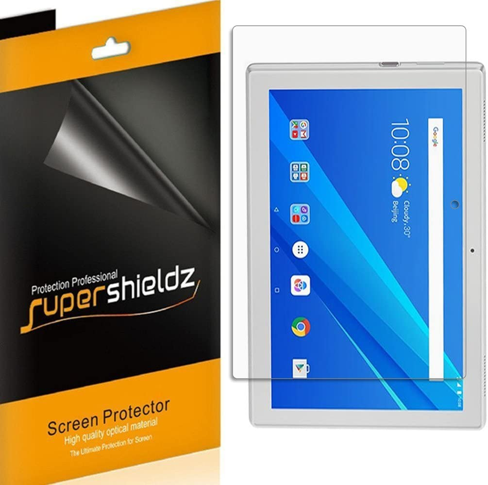 (3 Pack) Supershieldz Designed for Lenovo Tab 4 10 (10.1 inch) Screen Protector, High Definition Clear Shield (PET)