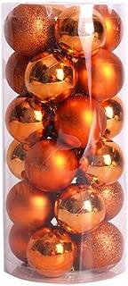 Lavany® 24PC Christmas Tree Ornaments Balls Decorations Xmas Ball Decor for Wedding Party 60mm (Orange)