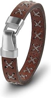 7821e0ef6314 Amazon.es: pulseras cuero para hombre