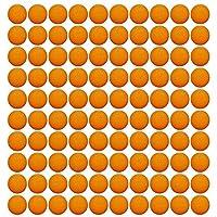 EKIND ガン弾丸ボール ナーフ ライバル用 替え玉 ボール 弾丸 おもちゃのガン弾丸ボール100個入り オレンジ