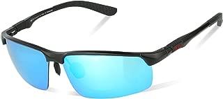 DUCO Men's Fashion Driving Polarized Sunglasses Sports Eyewear Fishing Goggles with Al-Mg Frame 8188