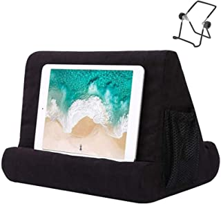 H HOME-MART Tablet Pillow Stand for iPad, Multi Angle Soft Pillow Pad Phone Pillow Lap Stand, Universal Reading Tablet Sta...