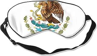 Sleep Mask Coat Arms of Mexico Unisex Eye Mask Cover Eyeshade
