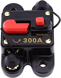 ZOOKOTO 12V-24V DC 80A Circuit Breaker Manual Reset Stereo Audio Fuse Holder 80amp For Trolling Motor Auto Car
