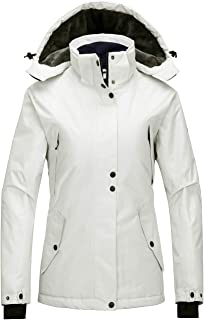 Wantdo Women`s Waterproof Ski Jacket Mountain Rain Jacket Warm Hooded Snow Coat
