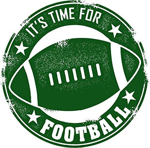 NFL American Football Its Time For Game Grunge Stamp Hochwertigen Auto-Autoaufkleber 12 x 12 cm