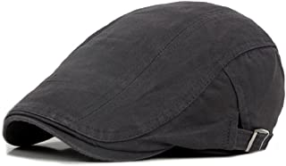91bc67e0 Bodhi2000 Mens Vintage Cotton Flat Cap Newsboy Ivy Cabbie Driving Hat
