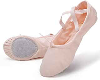 pink leather ballet slippers
