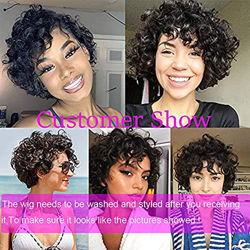 Short curly hair wigs _image1