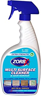 ZORBX Extra Strength Multi Surface Cleaner and Odor Remover – Non-Toxic and Biodegradable All Purpose Cleaner and Sanitizer is Safe for All, Works Instantly (24oz)