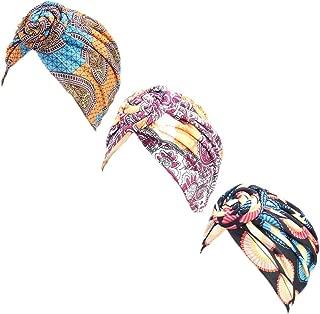 DANMY Women's Autumn Winter Knotted Hat Set Head Wrap Cap India's Hat Turban Headwear