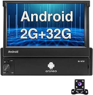 Android Single Din Autoradio 7 Zoll Flip Out Kapazitiver Touchscreen Radio Unterstützung Bluetooth FM Radio WiFi GPS Navigationsspiegel Link für Android / iOS Phone