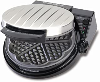 Chef'sChoice WafflePro Five-of-Hearts Waffle Maker, Silver (Discontinued by Manufacturer)