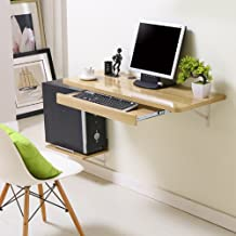 Computer desk wall-mounted desktop computer desk wall table wall-mounted laptop desk Small multifunctional folding table (color : Beige, Size : 120 * 40cm)