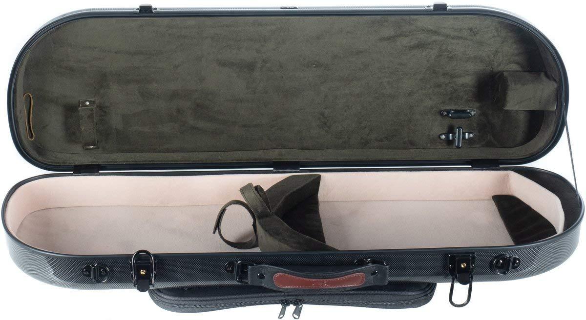 Estuche para violín fibra Street 4/4 point black - olive M-Case + Music bag: Amazon.es: Instrumentos musicales