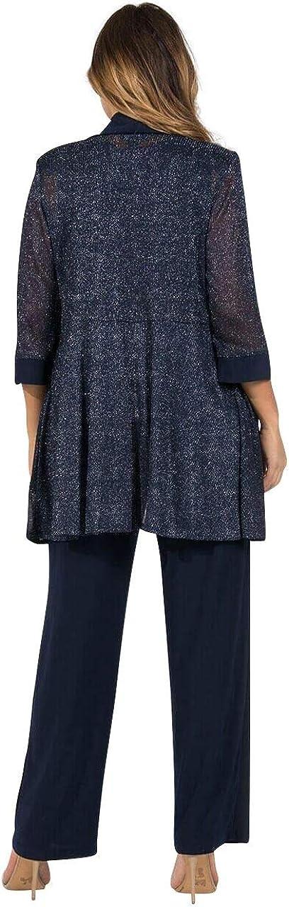 R&M Richards Pant Suit Mother of The Bride Plus Size Navy