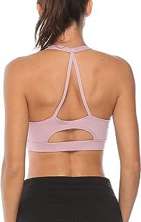 Women's Racerback Sport Bras Light Support Padded Strap Yoga Running Bra