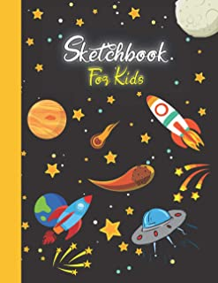 Sketchbook For Kids: Premium White Paper For Sketching, Painting, Drawing, Coloring, Or Doodling | Large Size (110 Pages)...