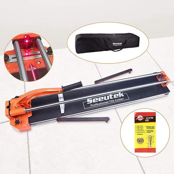 48 Inch Manual Tile Cutter Tools For Porcelain Ceramic Floor Tile Cutter W Adjustable Laser Guide Bonus Spared Cutting Wheel Storage Bag