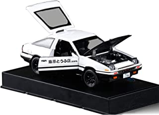 KMT 1:32 Initial D Toyota AE86 Alloy Diecast Car Model (Black Hood+White)