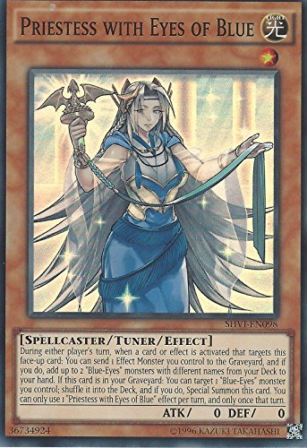 Yu-Gi-Oh! - Priestess with Eyes of Blue (SHVI-EN098) - Shining Victories - Unlimited Edition - Super Rare