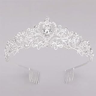 Beautiful crown Band per capelli della fascia della donna, corona di cristalli di cristallo della corona di nozze Corona d...