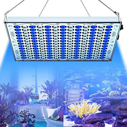 TOPLANET 75w Pflanzenlampe LED Grow Licht Blau Weiss 91:78 Aquarien Wachstumslampe für Pflanze Germination Aquarium Fisch Tank Wasser Gras Wachstum (Blau, 75w)