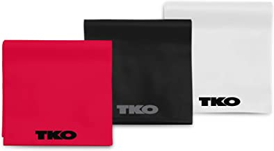 TKO Resistance Exercise Bands - Different Levels of Resistance - Strong, Medium, Light - Strength Training, Physical Therapy, Recovery - Multipacks Available