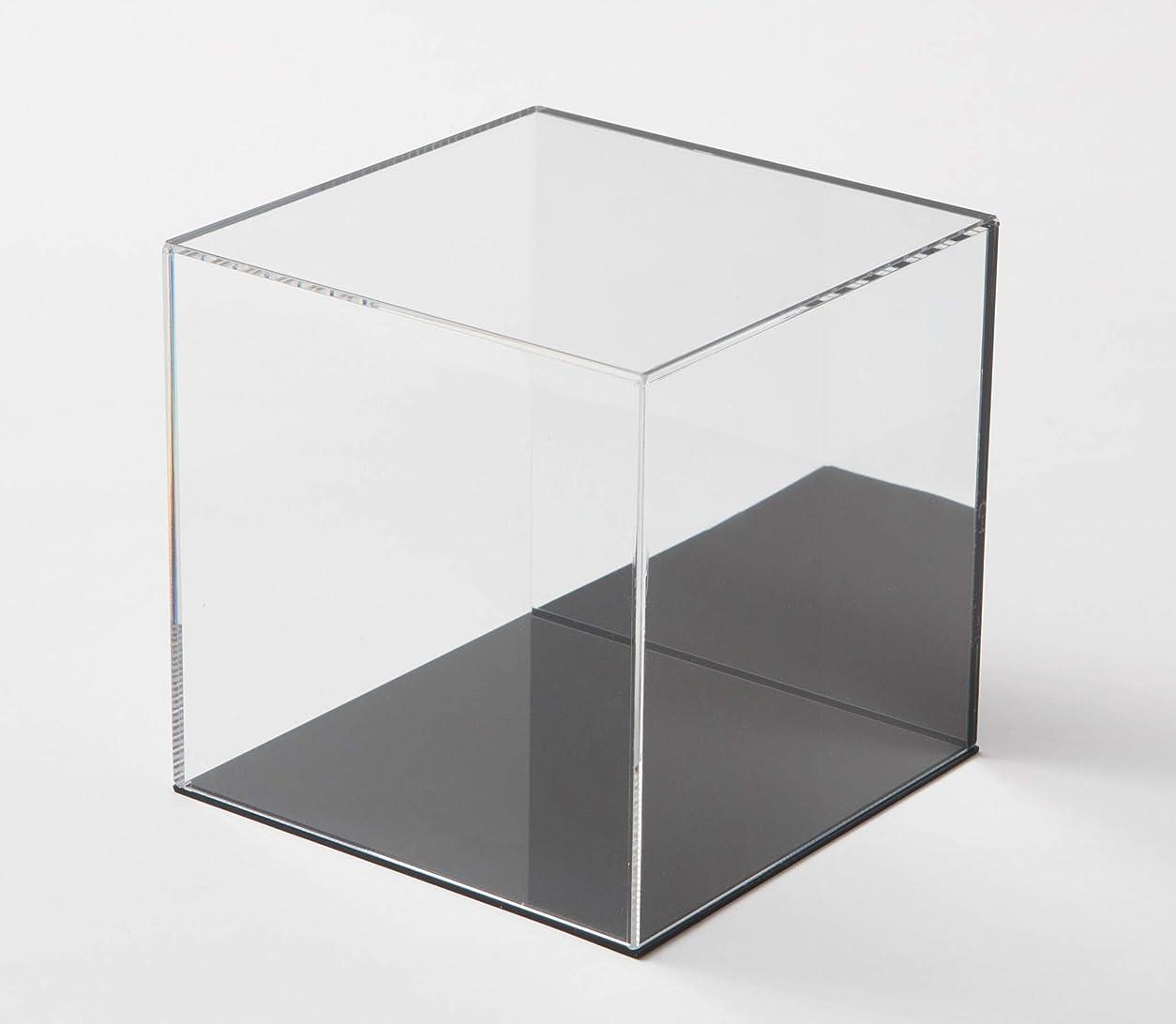 いらいらするベーコンサスペンション鈴木プラスチックス アクリル展示ケース 背面ミラー 台座黒タイプ (W300xD300xH300)