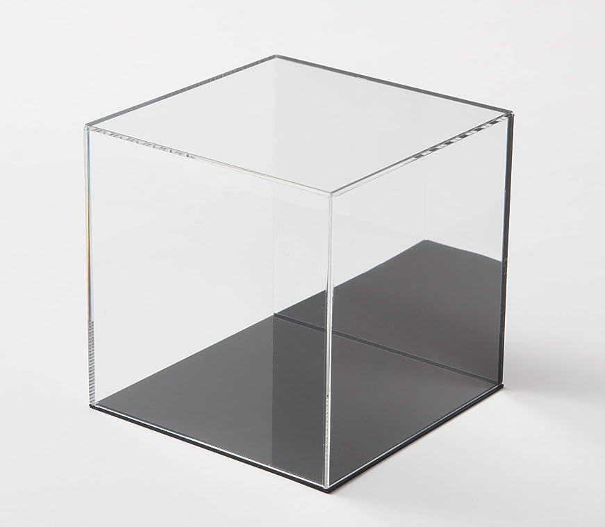 繁雑うなるもちろん鈴木プラスチックス アクリル展示ケース 背面ミラー 台座黒タイプ (W300xD300xH300)