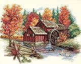 Dimensions 'Glory of Autumn' Seasonal Counted Cross Stitch Kit, 14 Count Ivory Aida, 14' x 11'